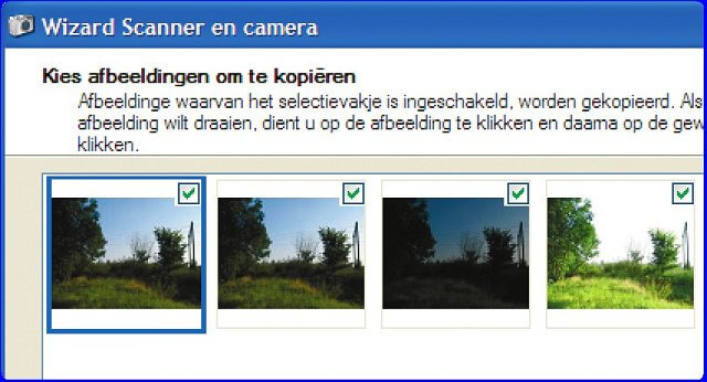 Foto's van camera downloaden met Windows