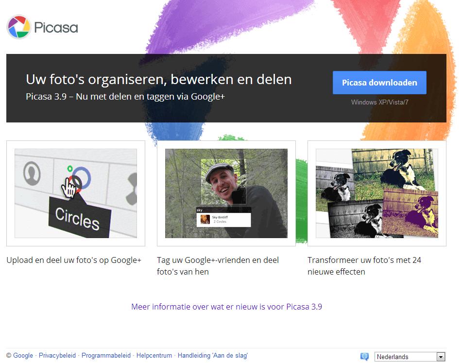 Picasa downloaden en installeren
