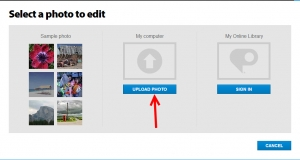 Photoshop express online editor foto uploaden