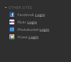 Photoshop express organizer andere netwerken