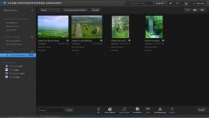 Photoshop express organizer bibliotheek