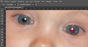 Photoshop rode ogen verwijderen