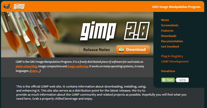 Gratis foto bewerken met Gimp 2.8