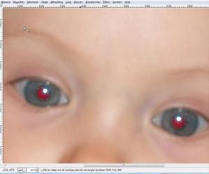 Gimp rode ogen verwijderen 1