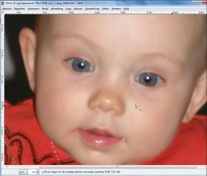 Gimp rode ogen verwijderen 2