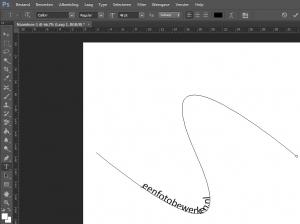 photoshop tekst langs een pad