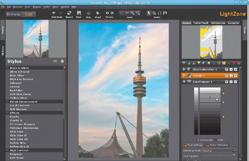 Lightzone fotobewerken met Linux