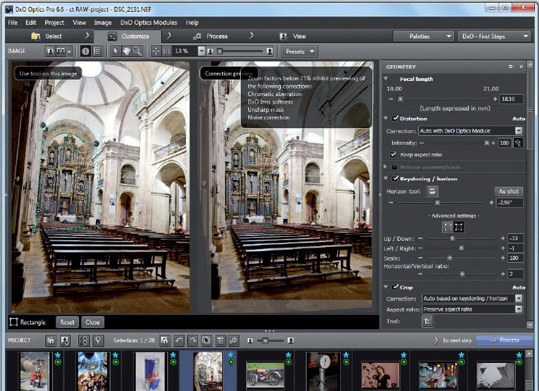 DxO Optics Pro Fotoworkflow