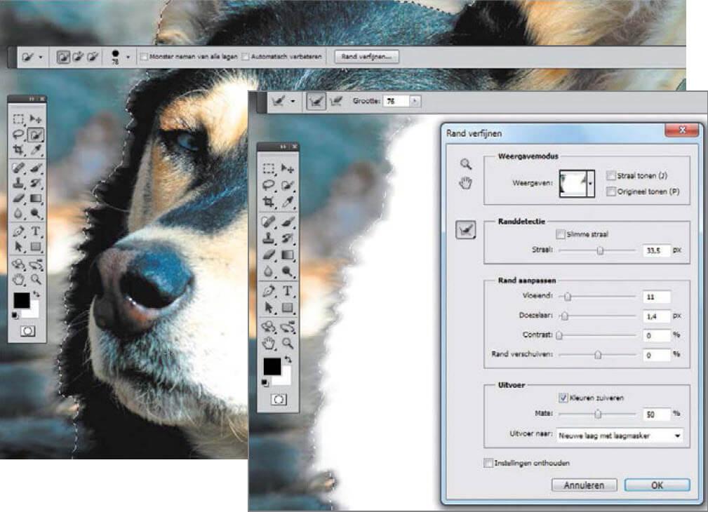 Complexe objecten vrijstaand maken met Photoshop of Gimp