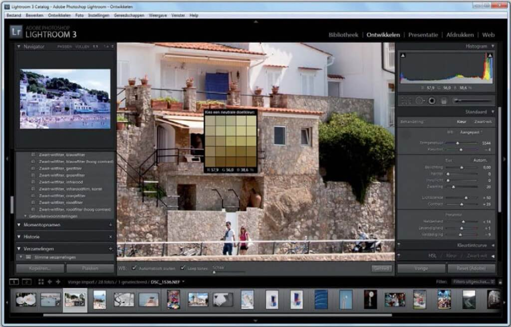 het verwerken van meerdere afbeeldingen versnellen de workflow in Lightroom.