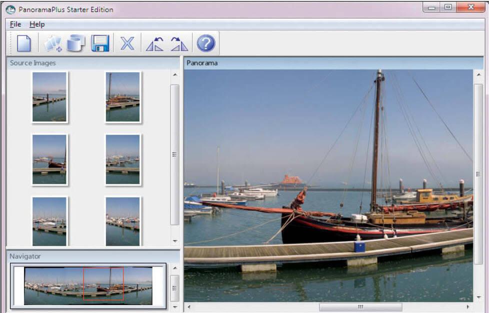 Panorama foto´s maken met PanoramaPlus
