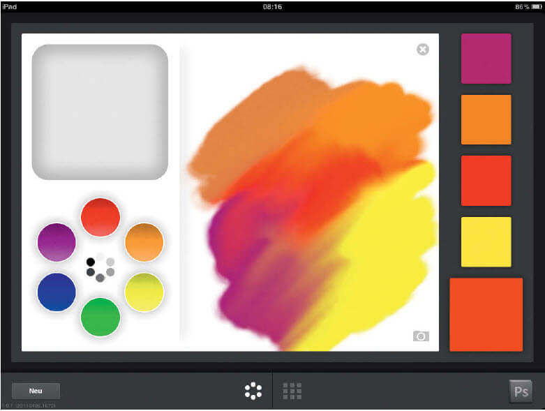Photoshop-apps op de iPad