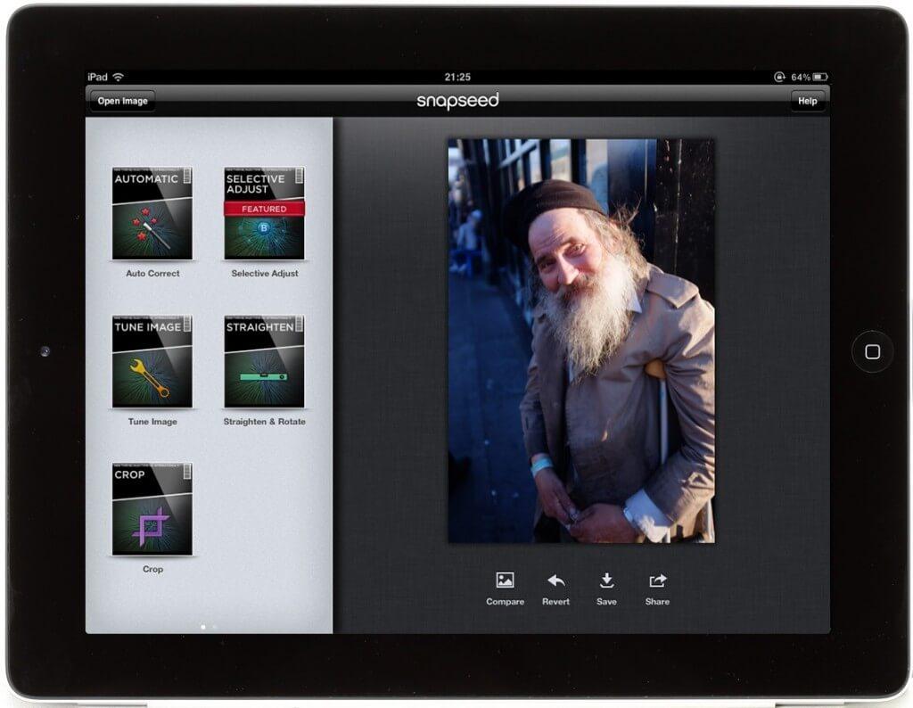 Fotobewerken op ipad met snapseed