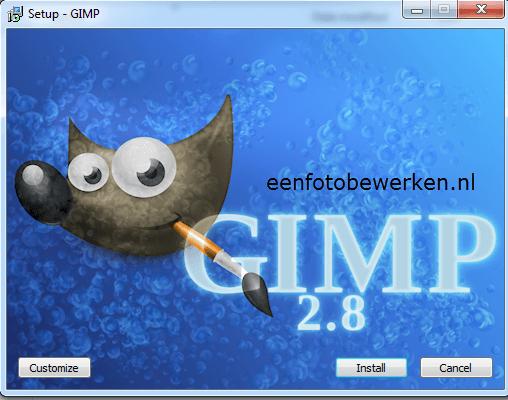 Gimp installeren gratis fotobewerking
