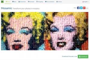 Mozaiek maken met mosamic downloaden