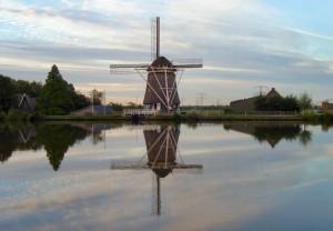 weerspiegeling molen